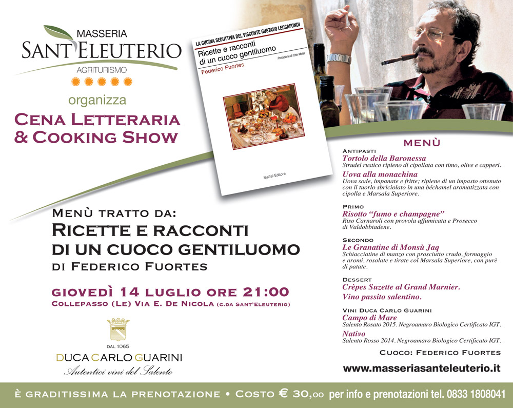 Cena letteraria & Cooking show